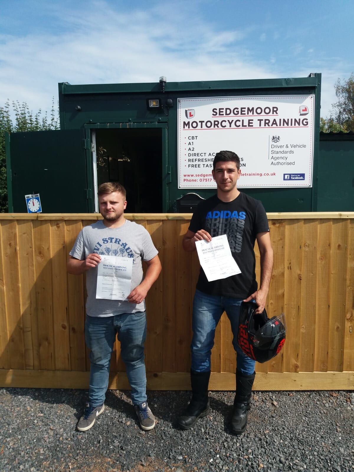 Sedgemoor Motorcycle Training students in Bridgwater