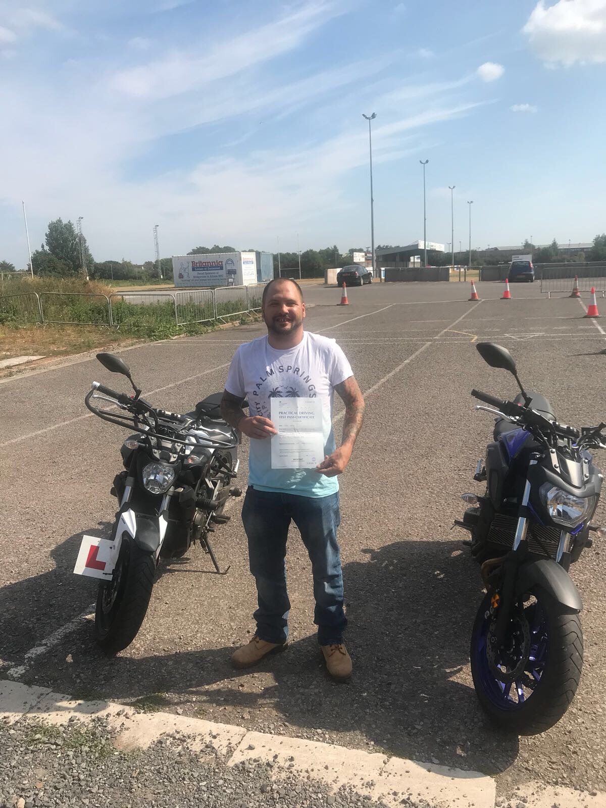 Happy lad passed with Sedgemoor Motorcycle Training