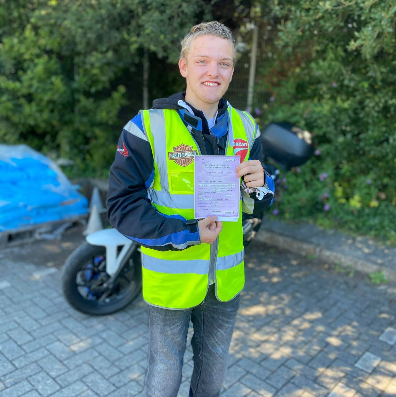 a2 motorcycle test pass bridgwater