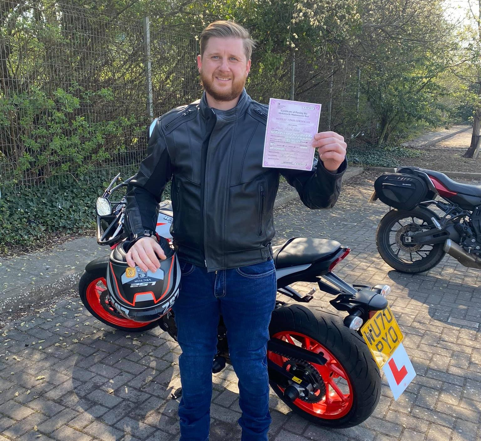 motorbike test passed bridgwater