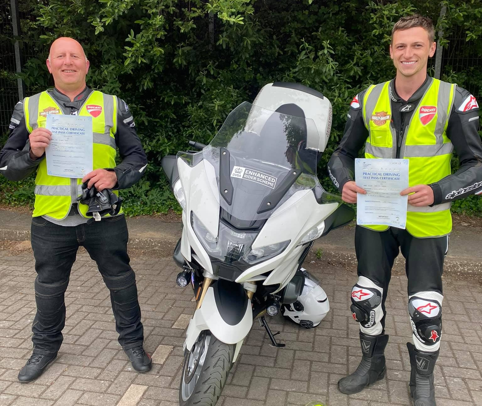 local riders pass motorbike test