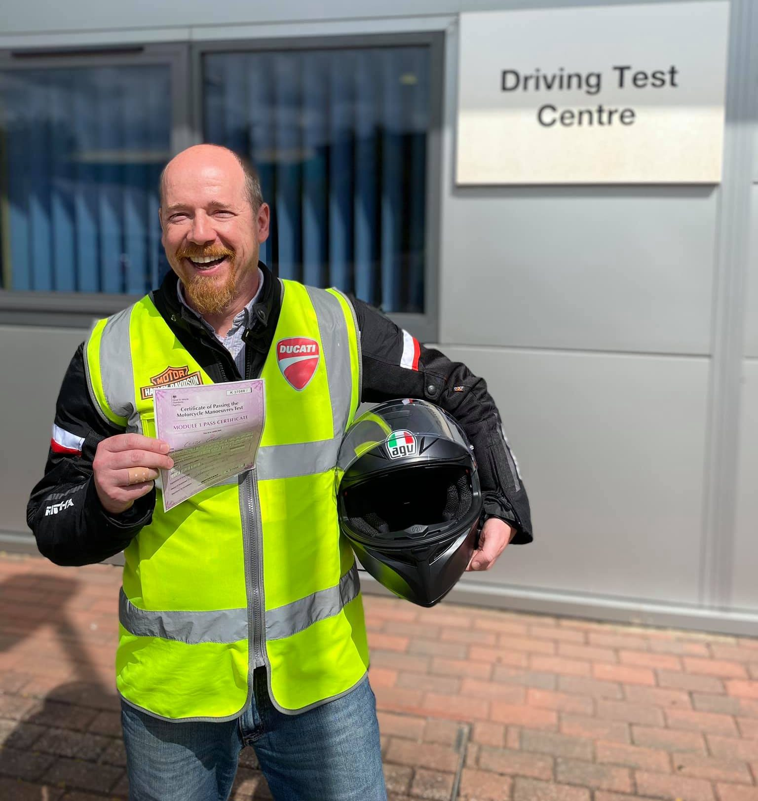 keyworker mod1 pass bridgwater motorbike training