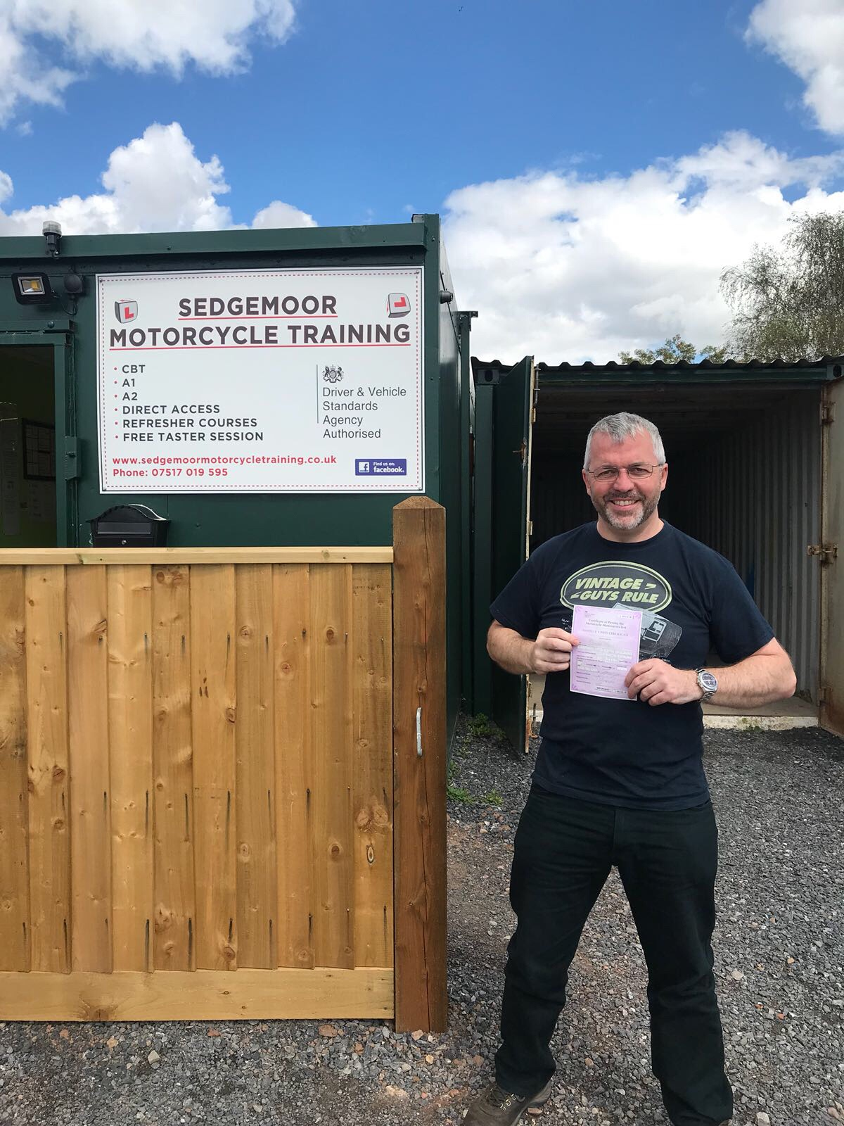 Motorcycle student passes with Sedgemoor Motorcycle Training