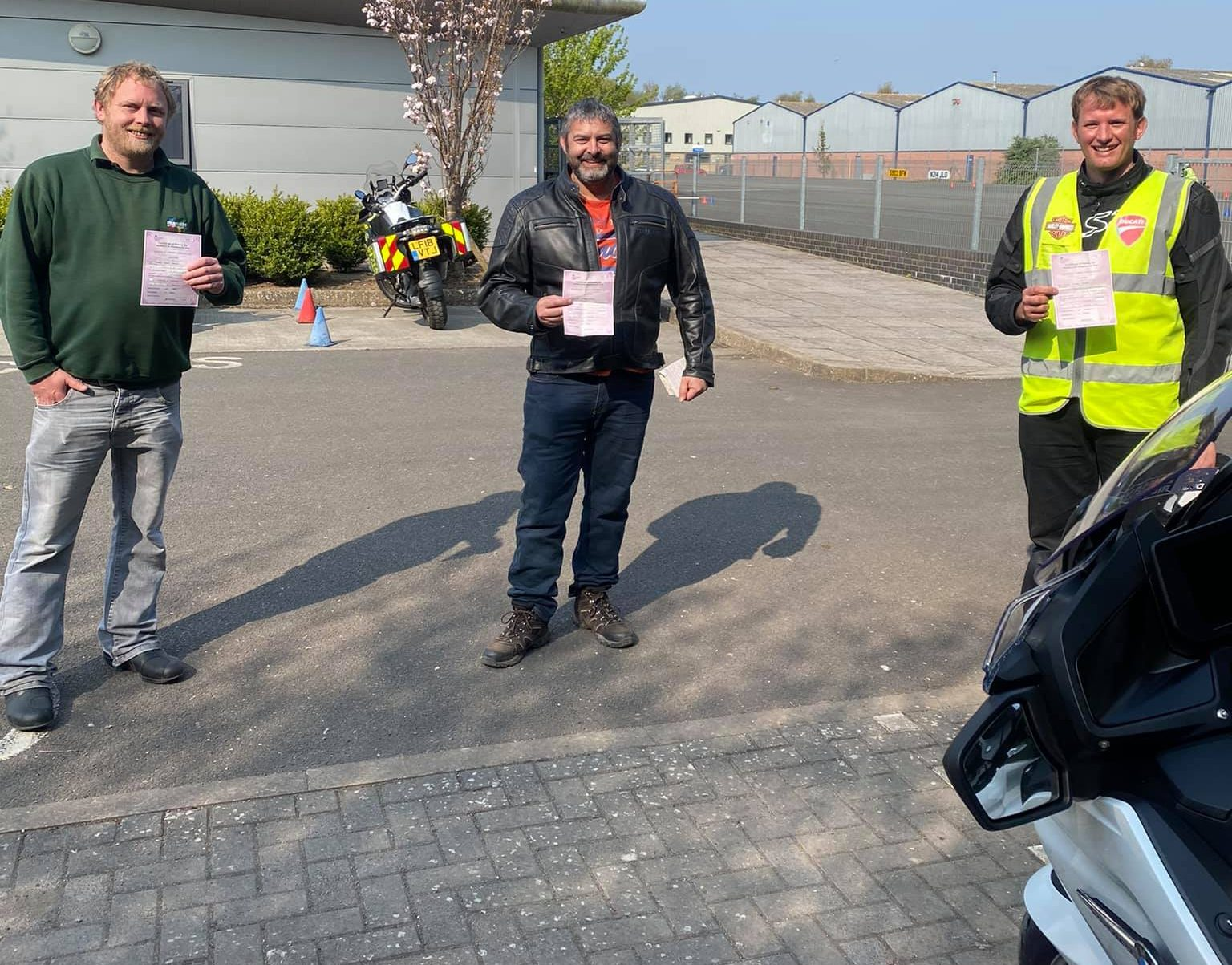 somerset riders happy after motorbike test passed