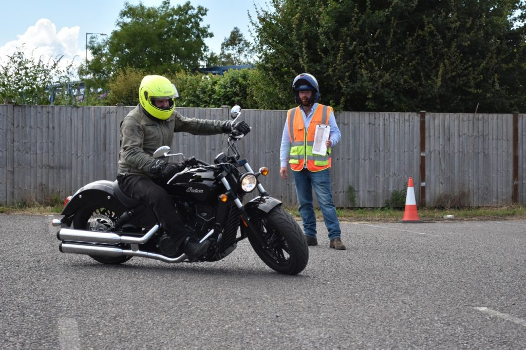 Indian Scout at Sedgemoor Motorcycle training Bridgwater