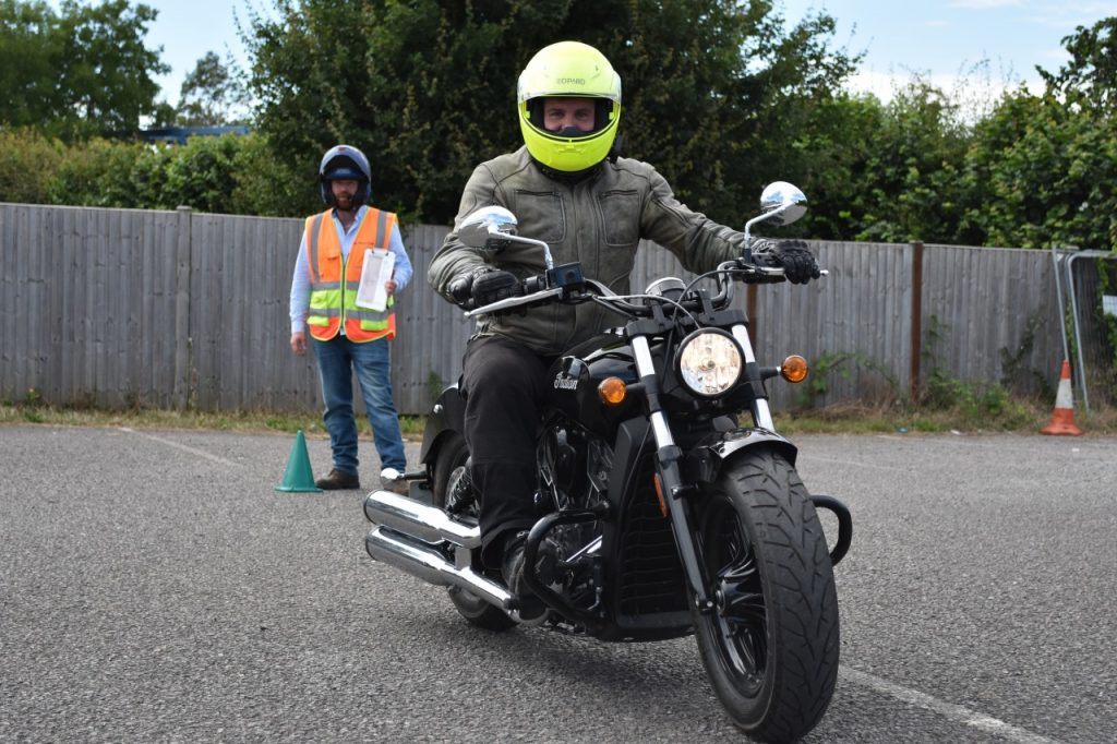 Kevin Billing with Indian Motorcycle Training