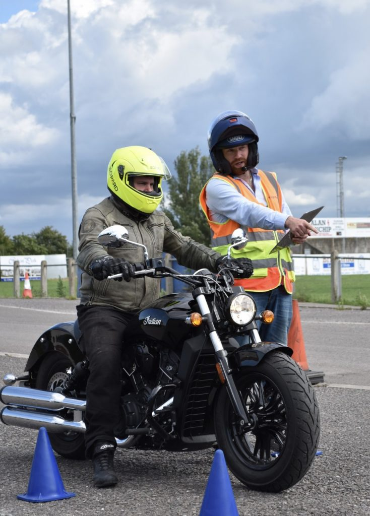 Indian Motorcycle Scout at Sedgemoor Motorcycle Training Bridgwater