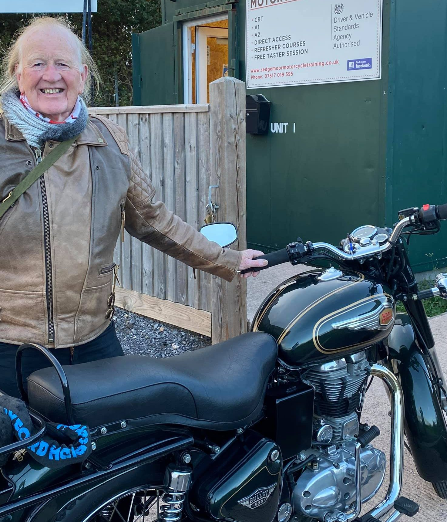 Martin Returns on His Royal Enfield