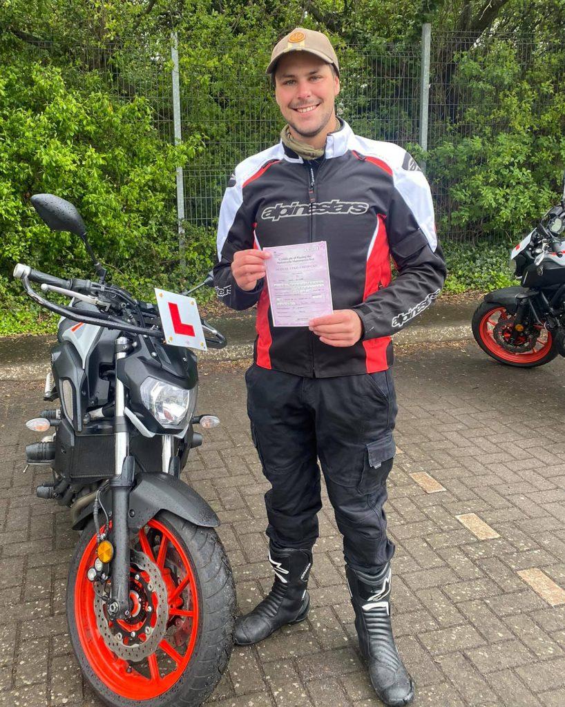 sedgemoor motorcycle training mod1 pass