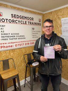 module 1 test passed at sedgemoor motorcycle training