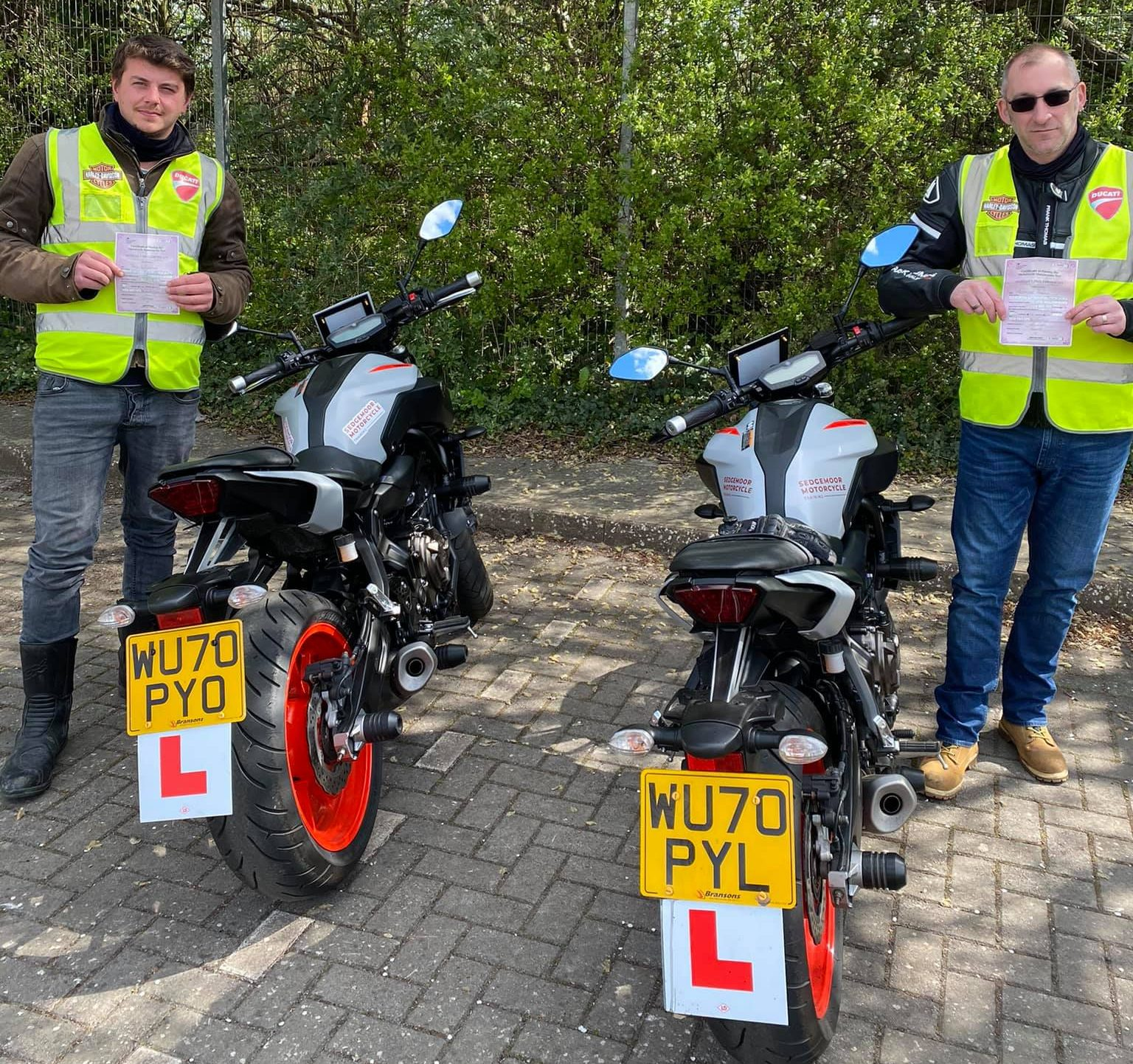 bridgwater motorcycle tests passed