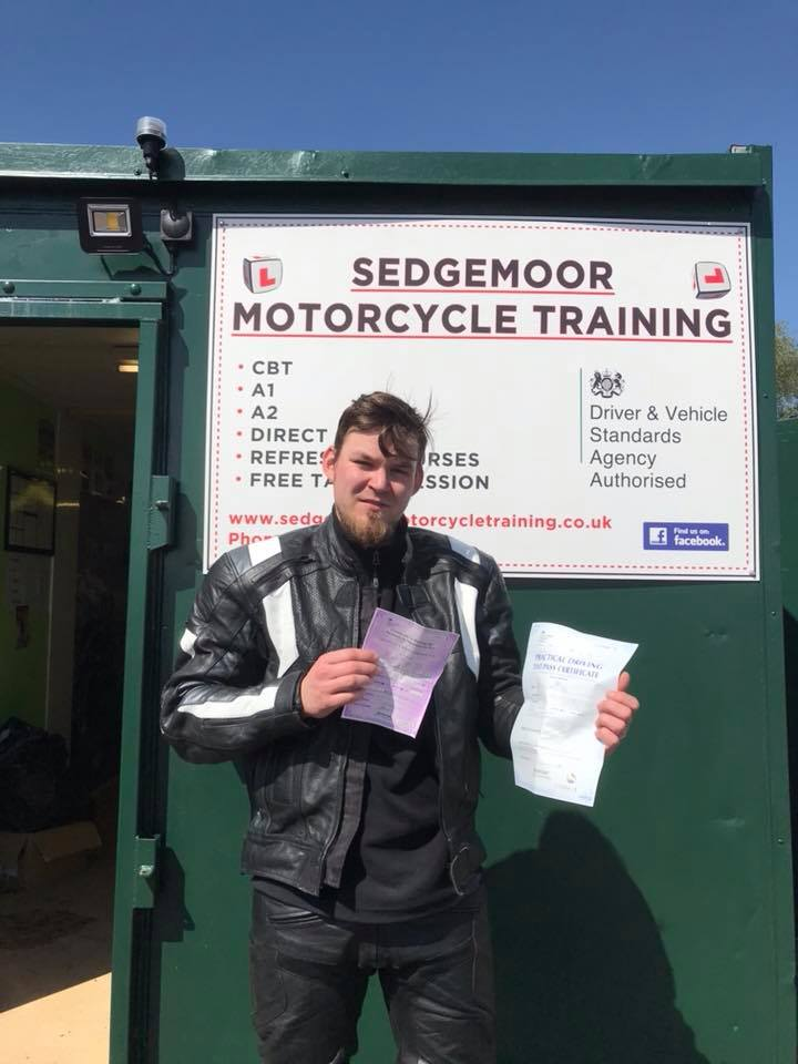Mod 1 and Mod 2 Pass for Learner from Bridgwater, Somerset