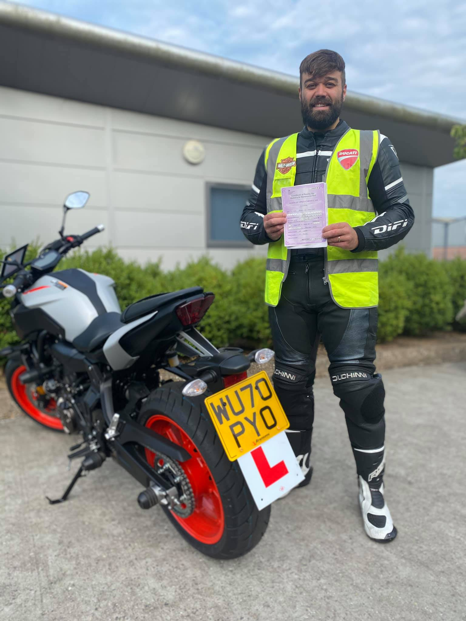 Wincanton Rider on New Yamaha MT07