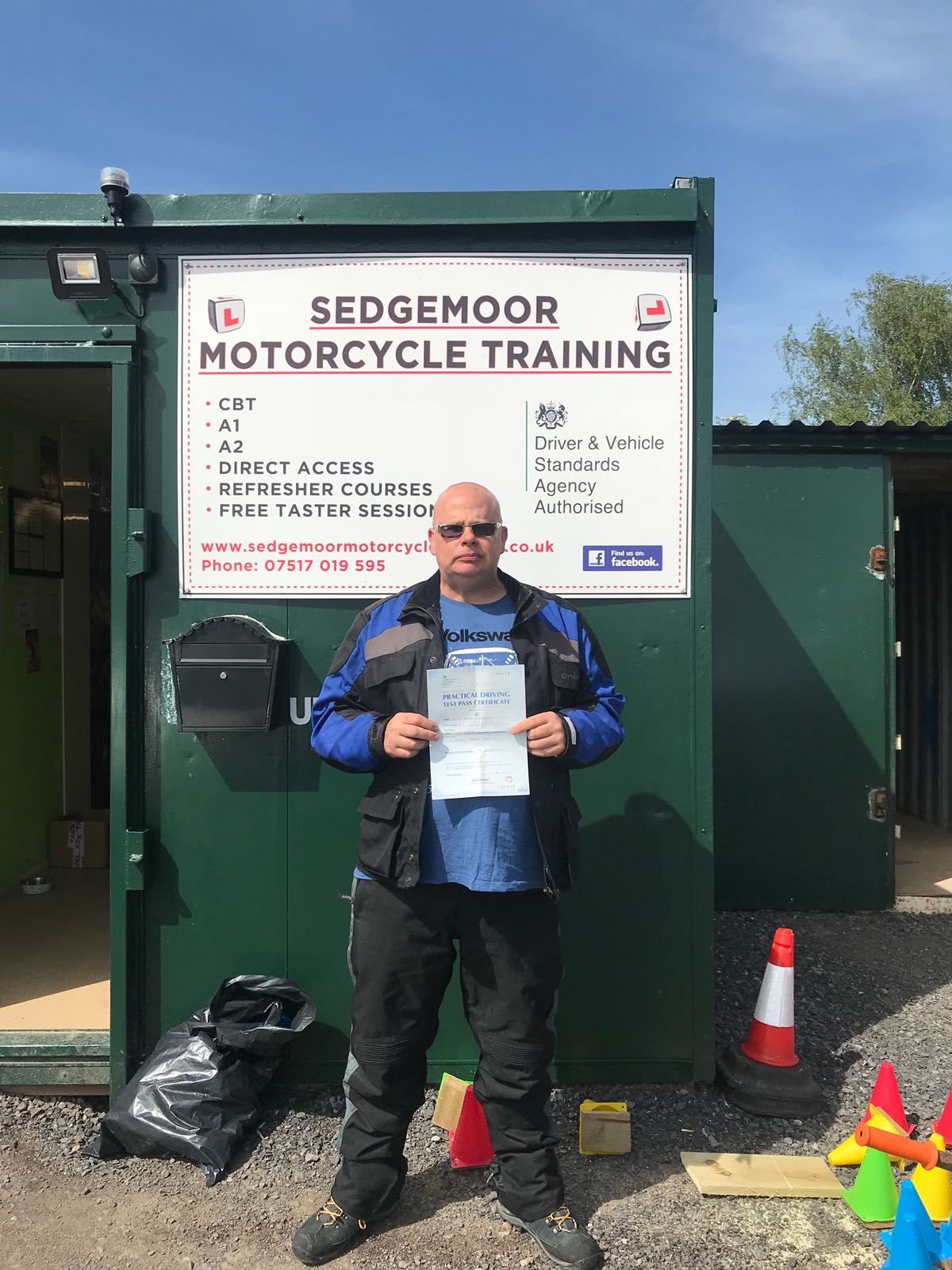 Scott DAS motorcycle training pass Bridgwater Somerset