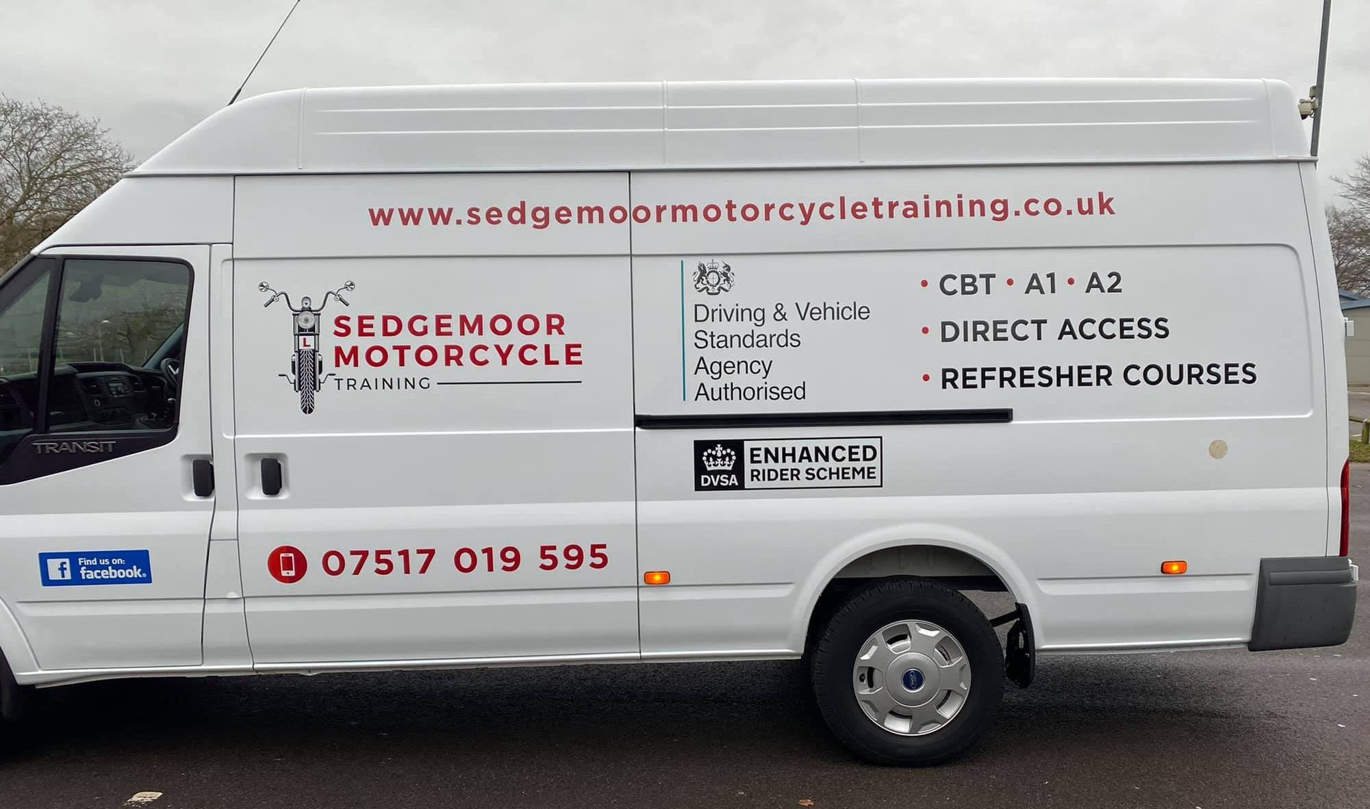 New Van for Sedgemoor Motorcycle Training