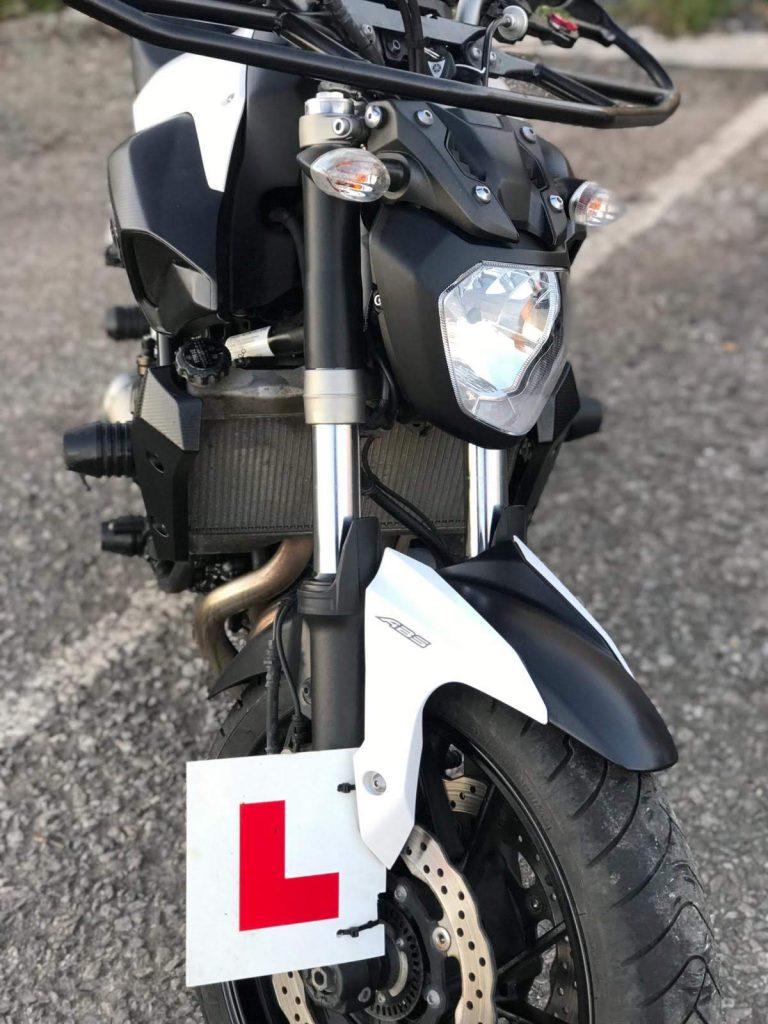 Yamaha MT07 motorcycles at Sedgemoor Motorcycle Training in Somerset
