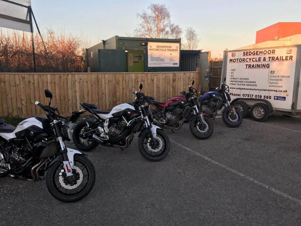 Yamaha MT07 motorcycles at Sedgemoor Motorcycle Training