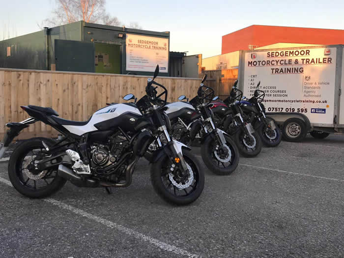 Motorbike training at Sedgemoor Motorcyle Training, Bridgwater, Somerset